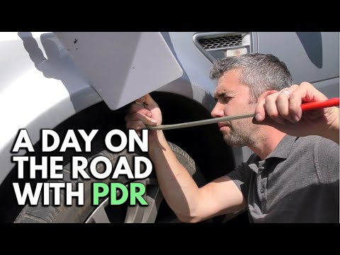 A Day On The Road With Paintless Dent Removal (PDR)
